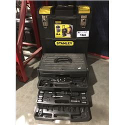STANLEY MOBILE WORK CENTRE TOOL CHEST WITH CONTENTS & JOBMATE TOOLBOX & CONTENTS