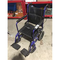 INVACARE LIGHT WEIGHT TRANSPORT WHEEL CHAIR
