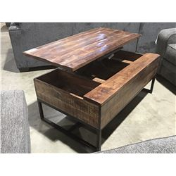 CONTEMPORARY LIFT TOP COFFEE TABLE WITH UNDER TOP STORAGE