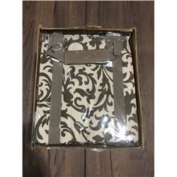 1 BOX OF 10 - TAZZY TOTES GO ECO STAY CHIC BOTTLE TOTES - PATTERNED BROWN (B)