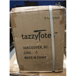 1 BOX OF 30 - TAZZY TOTES GO ECO STAY CHIC BOTTLE TOTES - BROWN (A)
