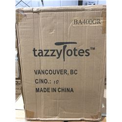 1 BOX OF 30 - TAZZY TOTES GO ECO STAY CHIC BOTTLE TOTES - GREEN (C)