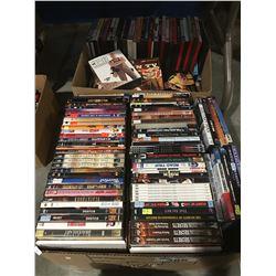 2 BOXES OF APPROX 300 ASSTD DVD'S