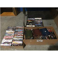 3 BOXES OF APPROX 200 ASSTD DVD'S