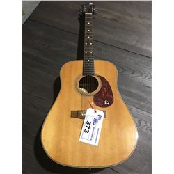EPIPHONE BY GIBSON ACOUSTIC GUITAR MODEL PR715 S/N 8603.017 WITH HARD CASE