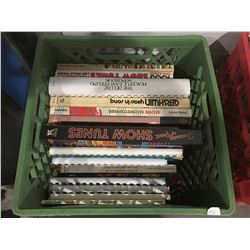 1 MILK CRATE OF ASSTD MUSIC BOOKS & SHEET MUSIC (A)