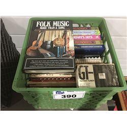 1 MILK CRATE OF ASSTD MUSIC BOOKS & SHEET MUSIC (D)