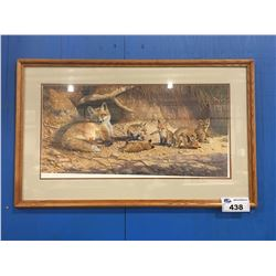 FRAMED LIMITED EDITION SIGNED & NUMBERED B.L. MARRIS FOX PRINT