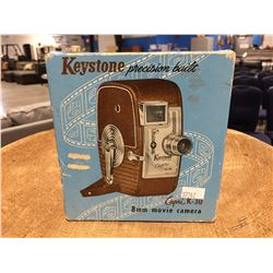 VINTAGE KEYSTONE PRECISION BUILT 8MM MOVIE CAMERA CAPRI K30 WITH ORIGINAL BOX