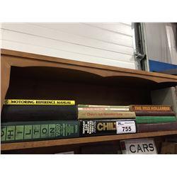 SHELF LOT OF VINTAGE AUTOMOTIVE BOOKS