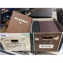 2 BOXES OF PLAYBOY COLLECTORS STORAGE ALBUMS
