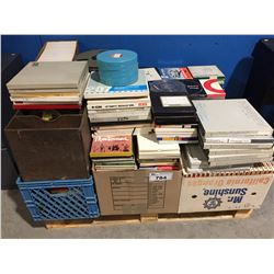 PALLET LOT OF REEL TO REEL TAPES