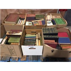 6 BOXES OF ANTIQUE BOOKS