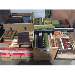 5 BOXES OF ANTIQUE BOOKS