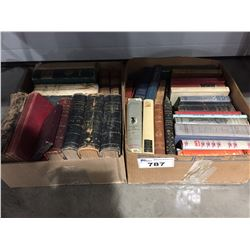 2 BOXES OF ANTIQUE BOOKS