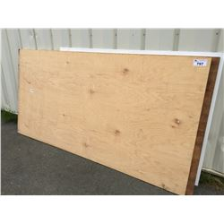 2 SHEETS 4' X 8' PLYWOOD & 1 SHEET WHITE PLASTIC SIGN BOARD
