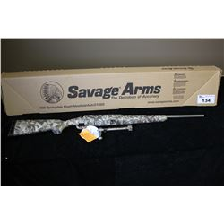 SAVAGE AXIS YOUTH 243 WIN DEER SKULL CAMO STAINLESS SERIAL#J192980