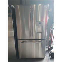 3' WIDE GE PROFILE STAINLESS STEEL FRENCH DOOR FRIDGE WITH BOTTOM FREEZER AND WATER DISPENSER