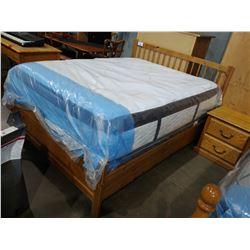 DOUBLE SIZE BEDROOM SET INCLUDING DRESSER, NIGHTSTAND, HEADBOARD, FOOTBOARD & RAILS (MATTRESS NOT
