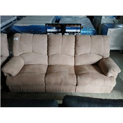 BEIGE RECLINING SOFA AND LOVESEAT SET
