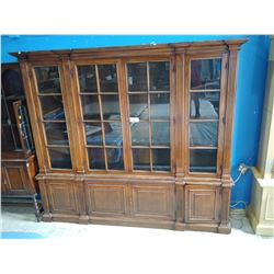 8' WIDE ARCHITECTURAL GLASS DOOR CUSTOM BUILT BOOKCASE