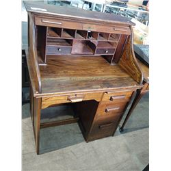 ANTIQUE S-ROLL TOP DESK