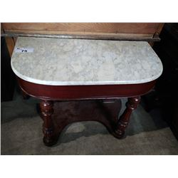 ANTIQUE MARBLE TOP HALLWAY TABLE