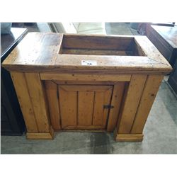 ANTIQUE CANADIAN COUNTRY PINE DRY SINK