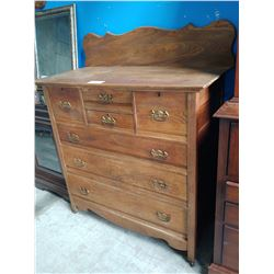 ANTIQUE RESTORED ASH CANADIANA GENTLEMAN'S CHEST