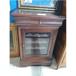 WOOD & STONE TOP WINE CABINET