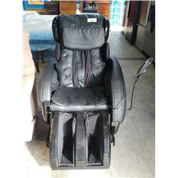 BLACK LEATHER MASSAGE CHAIR (NOT WORKING)