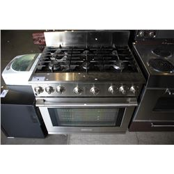 FULL STAINLESS STEEL ELECTROLUX ICON SERIES DUAL FUEL 6 BURNER GAS STOVE