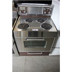 STAINLESS STEEL AND GREY 4 BURNER COIL TOP ENTERPRISE STOVE