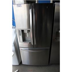 SCRATCH & DENT LG STAINLESS STEEL AND GREY FRENCH DOOR FRIDGE WITH ROLL OUT FREEZER AND WATER AND
