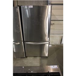 SCRATCH & DENT KITCHENAID STAINLESS STEEL AND BLACK SWING OUT FRIDGE WITH ROLL OUT FREEZER