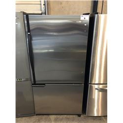 SCRATCH & DENT AMANA STAINLESS STEEL AND BLACK WITH SWING OUT DOOR AND SWING OUT FREEZER