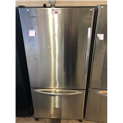 SCRATCH & DENT KITCHENAID STAINLESS STEEL SWING OUT FRIDGE WITH ROLL OUT FREEZER