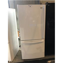 SCRATCH & DENT WHITE LG SWING OUT FRIDGE WITH ROLL OUT FREEZER