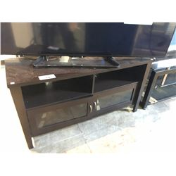 DARK STAINED CABINET WITH STORAGE WOODEN TV