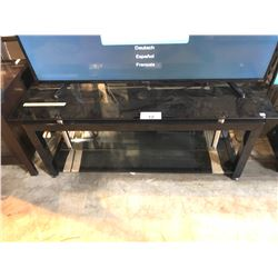 BLACK METAL AND GLASS 3 TIER TV STAND