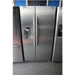 SCRATCH & DENT SAMSUNG STAINLESS STEEL AND GREY FRENCH DOOR FRIDGE WITH WATER AND ICE DISPENSER
