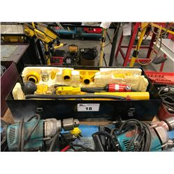 YELLOW POWER FIST HEAVY DUTY PORT-A-POWER WITH ACCESSORIES IN CASE