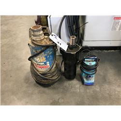 2 SUBMERSIBLE PUMPS & ELECTRIC MOTOR