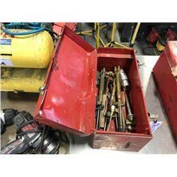 RED TOOL BOX WITH ASSORTED TORCH HEADS
