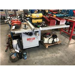 """CANTEK 10"""" TILTING WOOD CUTTING TABLE SAW WITH MOBILE BASE & SHUT OFF BOX"""