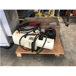 JLC COFFING 1TON ELECTRIC SHOP CRANE WITH REMOTE & CONVERTIBLE POWER SUPPLY
