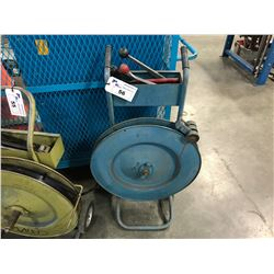 BLUE MOBILE BANDING CART WITH TOOLS
