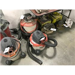 PAIR OF RIGID WET/DRY SHOP VACUUMS
