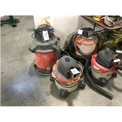CRAFTSMAN & RIGID WET/DRY SHOP VACUUMS