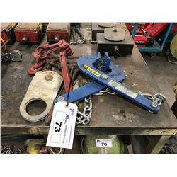 RATCHETING HOOKS, CABLE TROLLEY & HU-LIFT PALLET PULLER